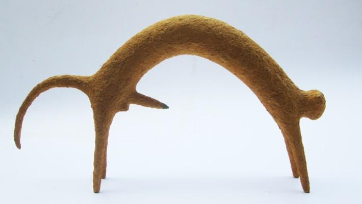 Thai Nhat Minh,Con thú 5 2014 Giấy, keo, dây đồng, màu tự nhiên 29x43x7cm