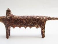 Thái Nhật Minh, RONG CHƠI/ Rove, 18x50x5,5cm, Giấy, Thiếp bạc và Sơn/ Paper, Silver leaf and Painted, 2014