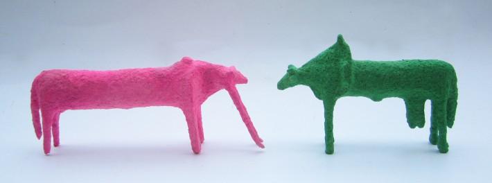 Thái Nhật Minh, TRÒ CHUYỆN/talk, Giấy, dây thép, Mầu nước/ Paper, iron wire, water color, 2014